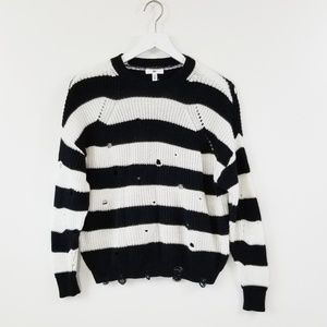 BP Black and White Striped Sweater